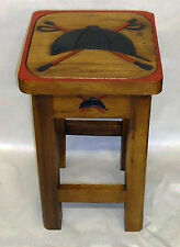 Tables - Riding Helmet & Crossed Crops Table - Horse - Equestrian Decor