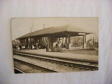 Real Photo Postcard RPPC Railroad Depot Morton Grove Illinois IL 1912 #1468