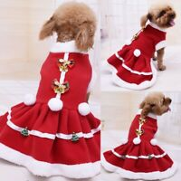 Pet Dog Bowknot Christmas Costume Puppy Tutu Skirt Dress Clothes Outfits Apparel