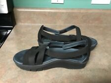 """Women's ABEO Bio System """"Magnetic"""" Black Suede Sandals Size 10 (CON14)"""