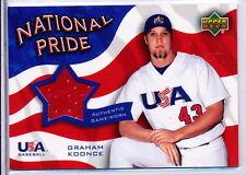 2004 UPPER DECK NATIONAL PRIDE JERSEYS #NPJ-GK GRAHAM KOONCE RC JSY - A'S