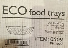 250 Count  Lot Southern Champion 0509 #50 ECO Kraft Paperboard Food Tray 1/2 #