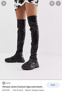 Versace Jeans Coulture Overknee Boots Uk7