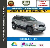 Workshop Manual Jeep Grand Cherokee Wk2 2014-2018 + Wiring ...