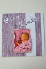 Glückwunschkarte zur Geburt Klappkarte Fachhandelsware