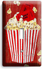 POP CORN TV ROOM HOME MOVIE THEATER RUSTIC 1 GANG LIGHT SWITCH WALL PLATES DECOR