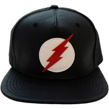"DC Comics The Flash ""Black Flash"" Logo PU Snapback Cap Hat New Official Bioworld"