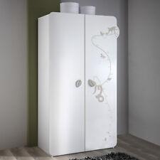 Kleiderschrank Jungle Schrank Kinderzimmerschrank in weiß mit Dschungelmotiv