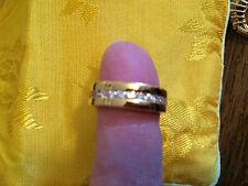 Imitation diamond ring, size 6/6.5, gold color band