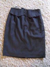 Hobbs NW3 100% laine tailleur jupe 14 Gris Foncé Travail Smart Business impeccable