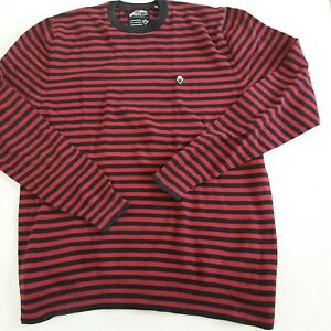 VANS Stripe Jumper Size Medium red and black off the wall engineered classics