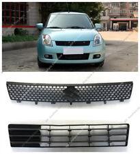 2pcs Black Front Bumper Upper+Lower Grille Grill For Suzuki Swift 2005-2008