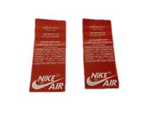 Nike Air Jordan Tongue Tag Chicago 1 1985 1994 red white 2013 2015