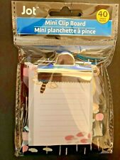 "Jot Colorful Mini Clipboard With Notepad 40 Sheets 3.25"" x 3.50"""