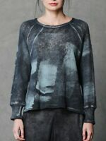 Beau Jours Meredith Eclipse Knit Top Size Small Women Handpaint Print