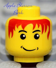 NEW Lego Child MINIFIG HEAD Kid w/Red Hair & Grin Smile -Boy Girl Santa Xmas Elf