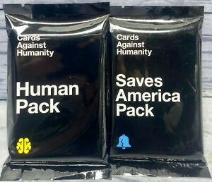 Cards Against Humanity Saves America Pack & Human Pack - Expansion Sets *NEW*