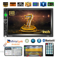 """Double 2 Din Car Stereo Radio 7"""" In-dash Touch Screen MP5 Player Car Head Unit"""