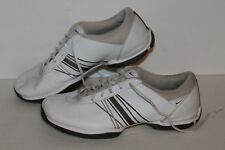 Nike Delight Golf Shoes, #418355-122, White/Brown, Leather, Women's US 8.5