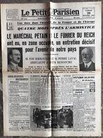 N38 La Une Du Journal Le Petit Parisien 26 Octobre 1940