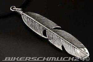 Biker Schmuck Rockabilly Schmuck Anhänger Adlerfeder 925 Silber Schmuck Geschenk