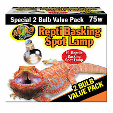 Zoo Med Repti Basking Spot Lamp 75W    Free Shipping