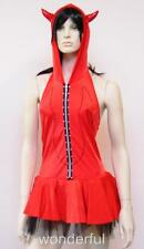 Red Hot Devil Costume Fancy Dress Outfit Hoodie Women's Sz~8-10