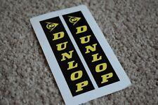 Dunlop Motorcycles Motorbike Bike Race Racing Decals Stickers Black 50mm