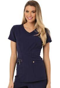 {3XL} Careisma Medical Uniform Scrub Top CA618 Navy