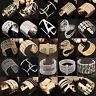 N Fashion Women Gold Silver Hollow Open Wide Bangle Cuff Punk Jewellery Bracelet