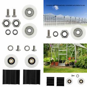 New Greenhouse Door Wheel Roller Replacement Kits 22/30mm Sliding Doors Wheels