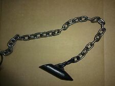 """6 FOX HOLLOW CHAINED SUPER STAKES 16"""" LONG WELDED S HOOK TRAPPING"""