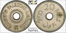 1935 Palestine 20 Mils Certified PCGS Genuine AU Gold Labeled Secure Holder