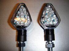 2x LED CARBONIO MOTO Lampada indicatore di direzione Yamaha Honda BMW KTM