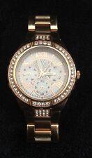 Guess Womens Rose Gold Sparkling Glitz Bezel Analog Dial Watch U0111L3