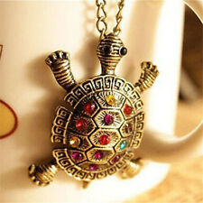 Women New Fashion Turtle Pendant Necklace Vintage Cute Sweater Chain Necklace JC