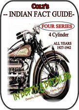 Indian Four Motorcycle Restoration Manual Judging Handbook Detailed Fact Guide