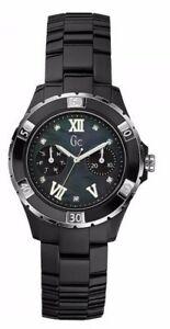 GUESS COLLECTION ,X69106L2S, SWISS LADIES BLACK DIAMOND CERAMIC WATCH,