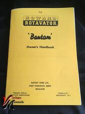 HOWARD Bantam Rotavator / Rotovator Owners Handbook - A5 - TSP/4/56