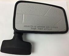 Jeep Wrangler YJ Right Full Door Mirror 1987-1995 Black Crown p/n 55016210