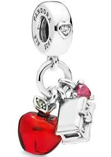 BRAND NEW PANDORA 'SNOW WHITE APPLE AND HEART' DANGLE CHARM - 797486CZRMX