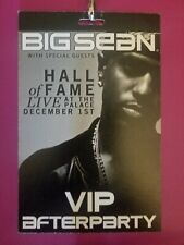 Big Sean Rare Vip Hall of Fame Live Tour Afterparty Pass /cord Detroit New