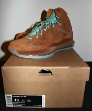 Nike Air Lebron X 10 EXT Hazelnut Suede Blue Sneakers Mens Size 10 Brand New