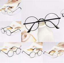 Stylish Beauty Black Frame Round Clear Len Glasses Nerd Eyeglass Spectacles New