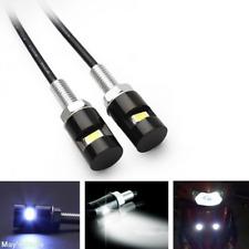 12V 6000K White SMD LED License Plate Light Screw Bolt Lamp/Bulb+Harness Black