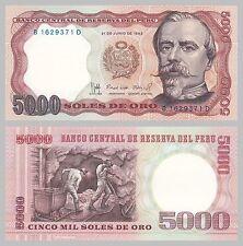 Peru 5000 Soles 1985 p117c unz.
