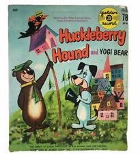 1959 Huckleberry Hound Yogi Bear Theme Songs Golden Record 78 RPM Hanna Barbera