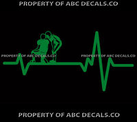 VRS Heart Beat Line FOOTBALL HUDDLE QB Kicker Player Play Ball CAR VINYL DECAL