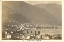 Garcin, Suisse, Vue sur Clarens-Vernex-Montreux  Vintage albumen print, carte ca