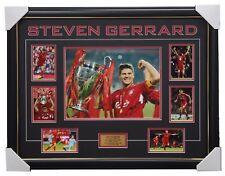 Steven Gerrard Liverpool Celebration Collage Signed Framed Private Signing Proof